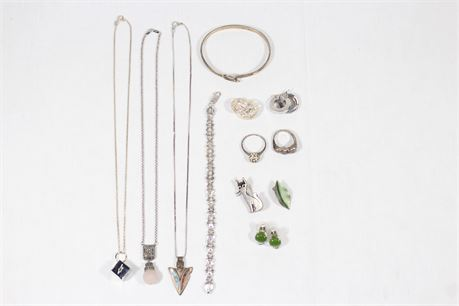 Assorted Sterling Sliver Jewelry Lot 88.00 Grams