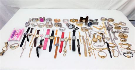 Huge Lot of Designer Watches Parts/Repair/Wearable (R2)