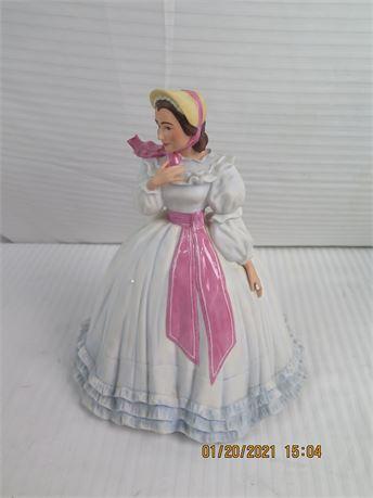 "The Franklin Mint ""Gone With The Wind"" Olivia De Havilland Handpainted Porcelain"
