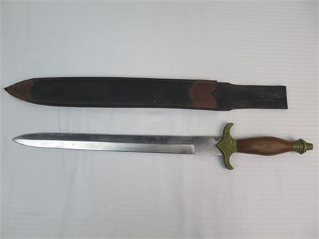 """27"""" Fantasy Sword with Leather Scabbard (670)"""