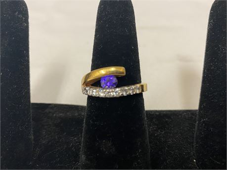 10k Gold Ring Size 8 (Tested)