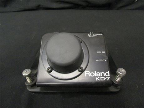 Roland Electronic Kick Drum Trigger Model KD-7 - Untested - No Cables or Beater