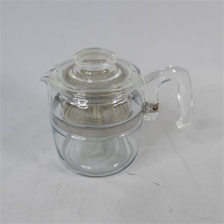 Pyrex 7754 Glass Percolator / Coffee Maker 4 Cups, Complete!