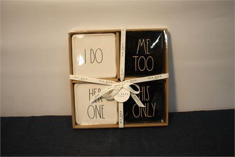 Rae Dunn Wedding 4 Plate Set Gift (500)