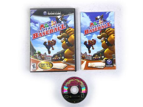 Mario Superstar Baseball Nintendo Gamecube Complete CIB