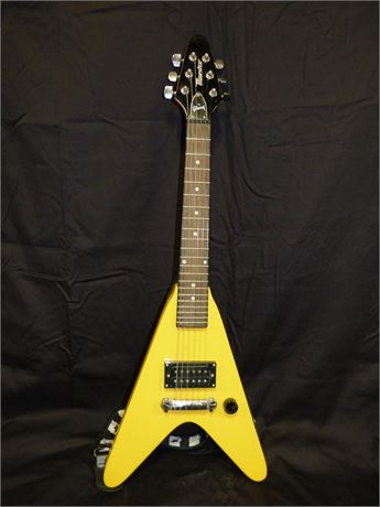 Maestro By Gibson Rare Yellow Color Flying V Roadie Mini Electric Guitar