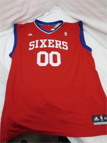 Autographed Spencer Hawes NBA Philadelphia 76ers Jersey