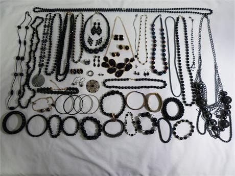 2 LB Black Jewelry Lot