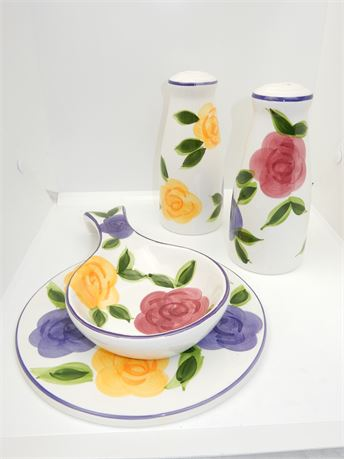 Vintage Tabletops FLora di Roma 4 Piece Set