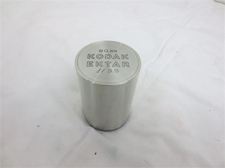 90 mm Kodak Ektar f/3.5 Camera Lens in Metal Case
