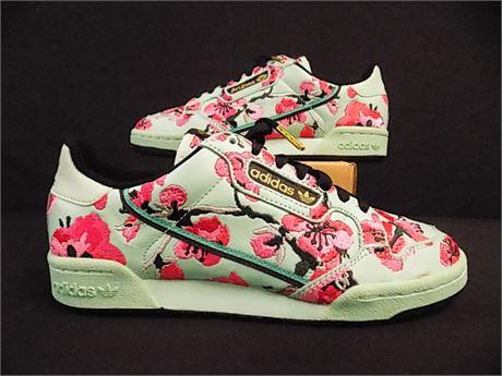 Adidas Continental 80 'Arizona Green Tea' Sneakers, Size:7.5