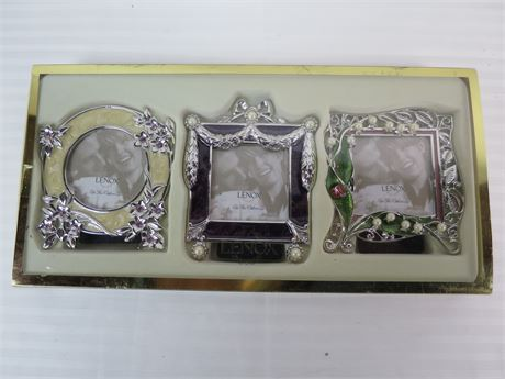 Lenox Vintage Jewel set of 3 Silver Plated Photo Frames (670)