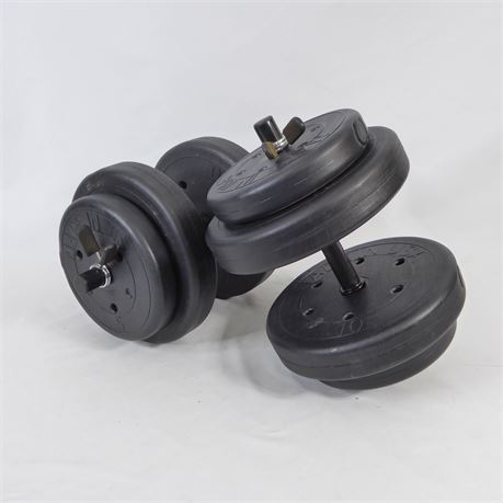 Pair Of 30 Pound LBS Each Dumbbells, 60 LBS Total