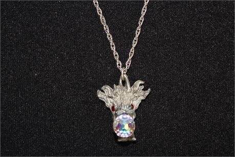 Sterling Silver Necklace w/Stainless Steel Pendant