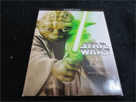 Star Wars 1, 2, and 3 Blu Rays and DVDs
