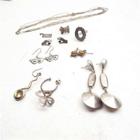 43.7 Gram Sterling Silver Jewelry Lot