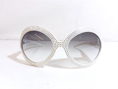 D & G White Sunglasses 8038B