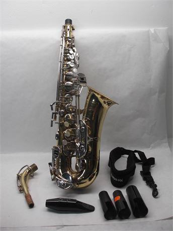 SAXOPHONE with case and 1 Music Book