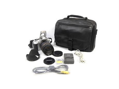 Canon EOS Digital Rebel XTI DS126151 DSLR w/Tamron XR Di-II Lens + Accessories
