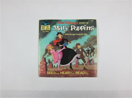 Vintage Disney's Mary Poppins Read-Along Book and Record (650)