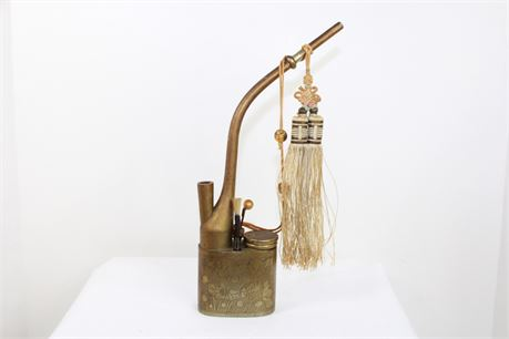 Antique Vintage Brass Chinese Water Pipe