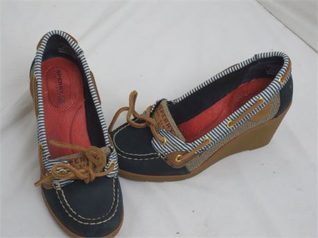 Sperry goldfish wedge boat topsider shoe size 6m