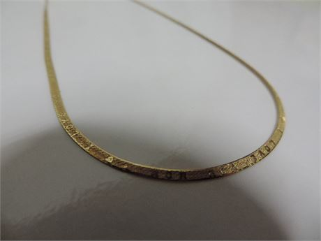 "18"" //14 kt Gold I LOVE YOU Necklace 3.5 Grams"