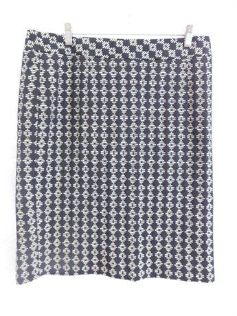 NWT Coldwater Creek Diamond Motif Pencil Skirt Women size 16