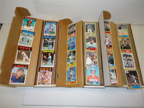 Lot Of 1986-87 Topps Baseball Cards, 2 Boxes 87,1 Box 86 Pre-Owned