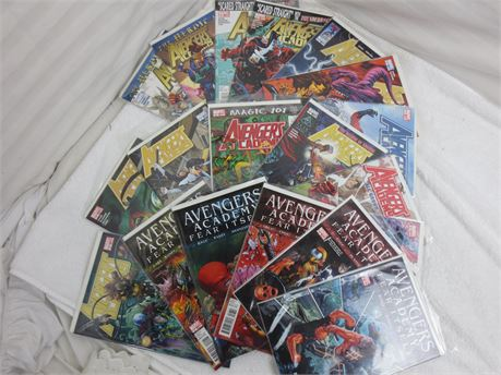 Complete Set of Marvel Comic Books The Avengers Academy