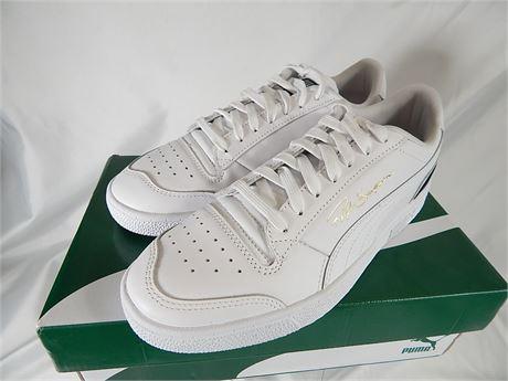 Puma White Leather Mens size 8.5 Ralph Sampson(270r2s1)