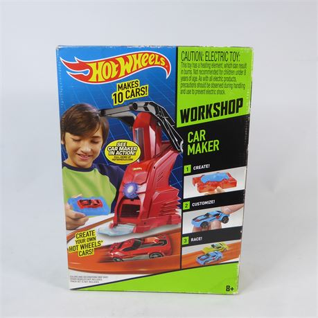 Hot Wheels Workshop Car Maker Design Kit Machine New Sealed 2013