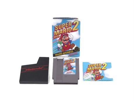 Super Mario Bros. 2: Mario Madness (Nintendo NES) COMPLETE! Collectible (670)