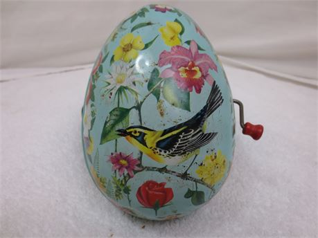 Vintage Mattel Inc. Metal Egg Shaped Music Box from 1953