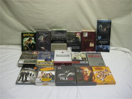 Lot Of 17 Brand New Movie/TV Show DVD Sets
