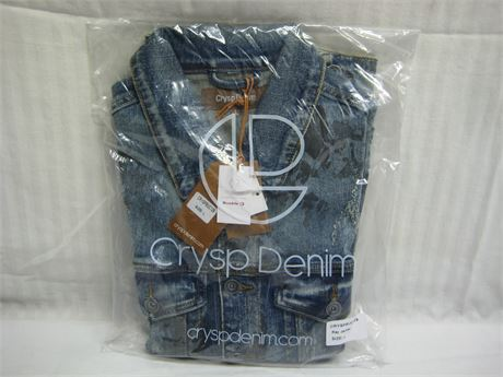 Crysp Denim Men's Large Jean Jacket Brand New