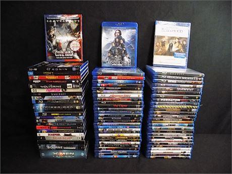 Blu-Ray Movie Lot; 79 Pieces