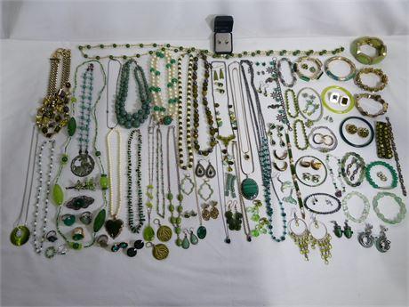 3 LB Green Jewelry Lot