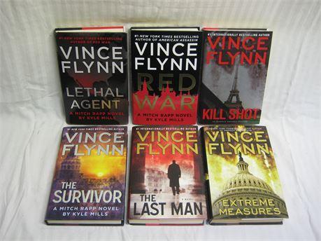 Lot Of 6 Vince Flynn Hardcover Books