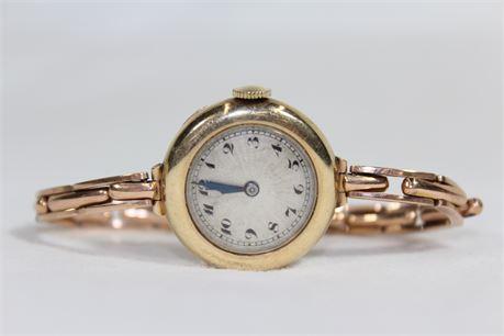9K Gold Women's Swiss Watch, 22.12 Grams