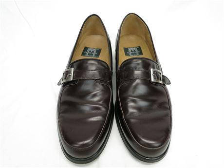 Cable & Co. Italian Leather Monk Strap Brown Shoes