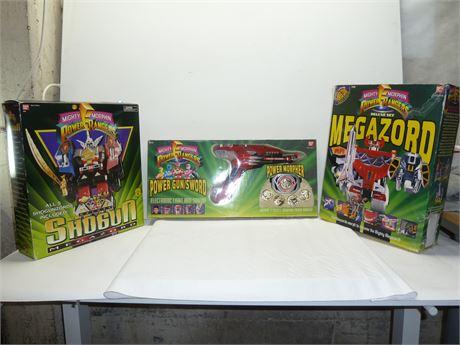 Lot Of Power Rangers,Mighty Morphin Sets:Megazord,Shogun,Power Gun/Sword In Box