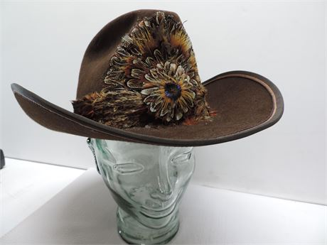 John B. Stetson Company 3x Beaver Cowboy Hat 7 3/8 Howard & Phil's Western Wear