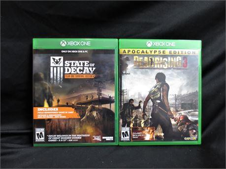 2 Xbox One Games Lot E