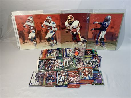 New England Patriots - Washington Collection of Cards Autograph Photos