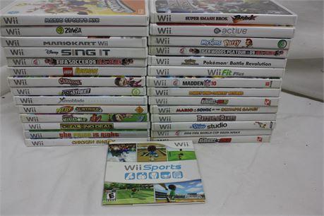Lot of 29 Nintendo Wii Games