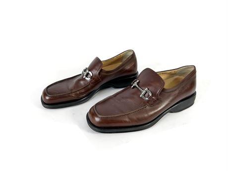 Salvatore Ferragamo Leather Dress Shoes Size 9.5D, Italy,  01VF7939E22