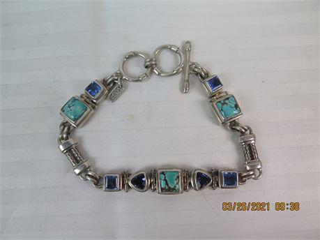 """SARDA Designer Signed Sterling Silver 925 7-8"""" Bracelet (670)"""