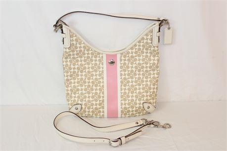 Coach C1069-F15136 Pink Tan Shoulder Bag