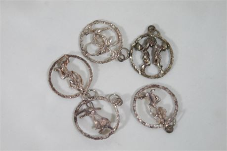 """Sterling """"925"""" Silver Pendant/Charms, 15.44 Grams"""